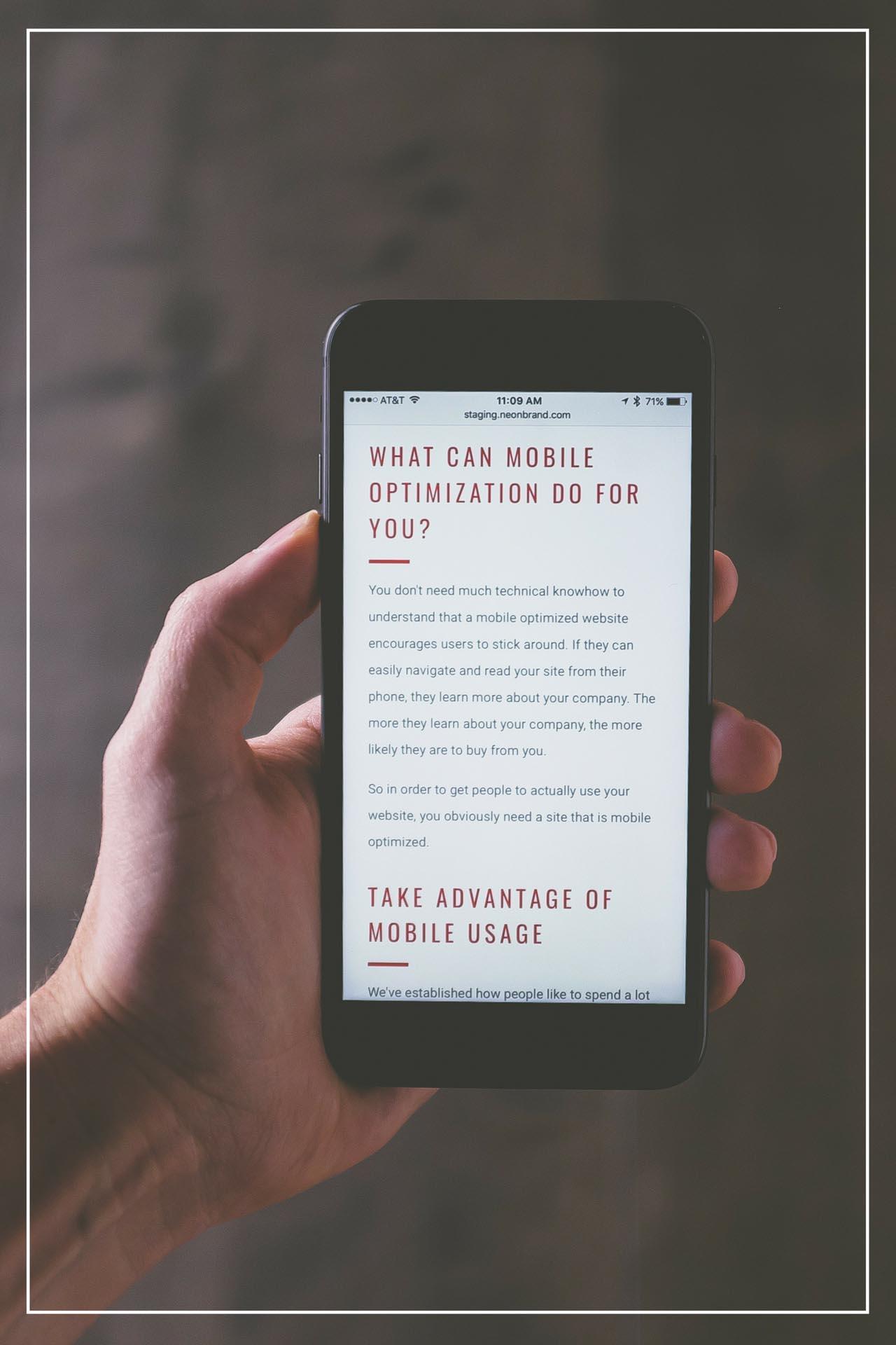 Illustrasjon : Fungerer nettsiden bra på mobil